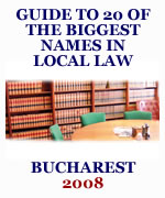 Guide to the biggest names in local law - Bucharest 2009