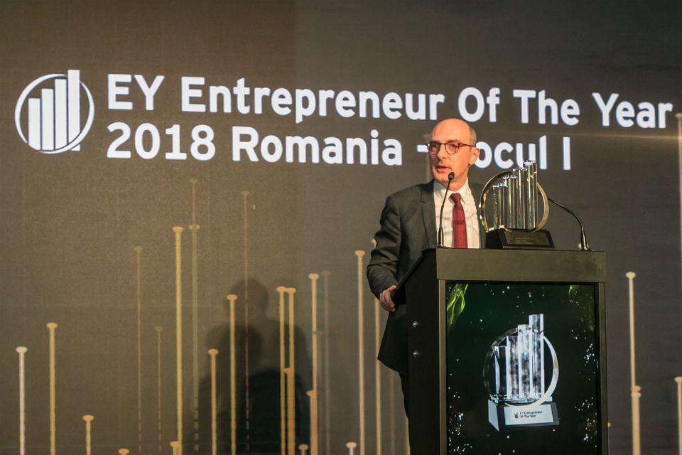 Ovidiu Sandor, CEO Mulberry Development, winner of EY Entrepreneur of the Year 2018 competition