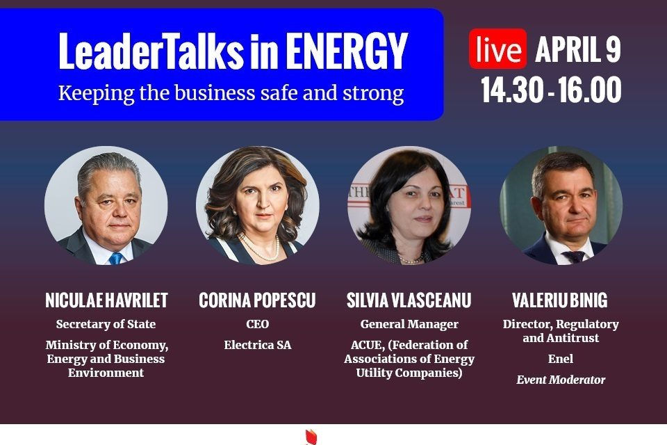 LeaderTalks in ENERGY: Keeping the business safe and strong, e-conference to take place on April 9