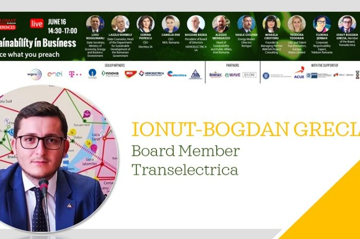 SUSTAINABILITY IN BUSINESS, IONUT-BOGDAN GRECIA, Board Member Transelectrica: Romanian companies must build on the good practices already existing at the level of European Union
