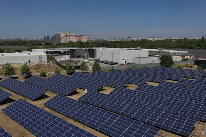 Enel X Romania installed photovoltaic system with 1 MWp capacity at meat factory in Bucharest