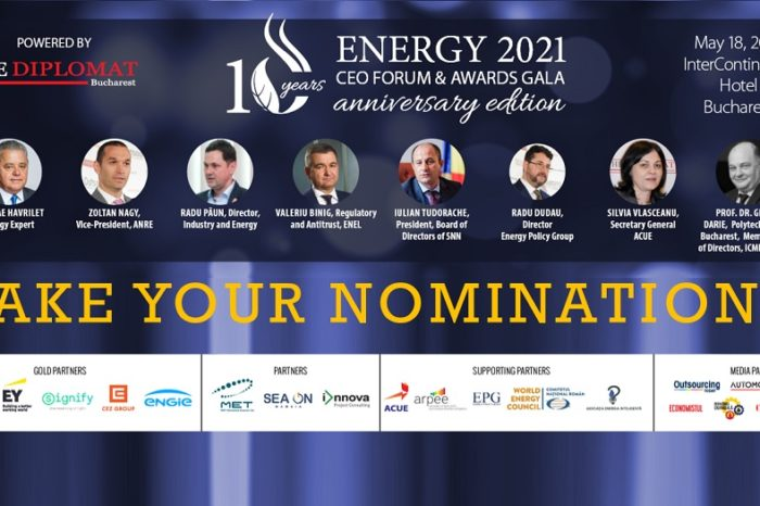 LAST CHANCE TO NOMINATE for this year's edition of ROMANIAN ENERGY CEO FORUM & AWARDS GALA!