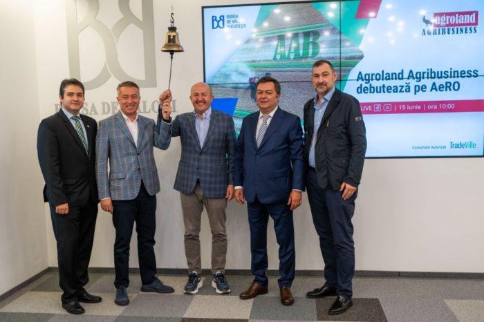 Agroland Agribusiness went public on the AeRO market of Bucharest Stock Exchange