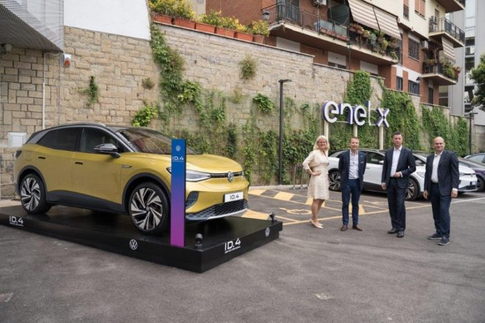 ENEL X and VOLKSWAGEN team up for electric mobility in ITALY