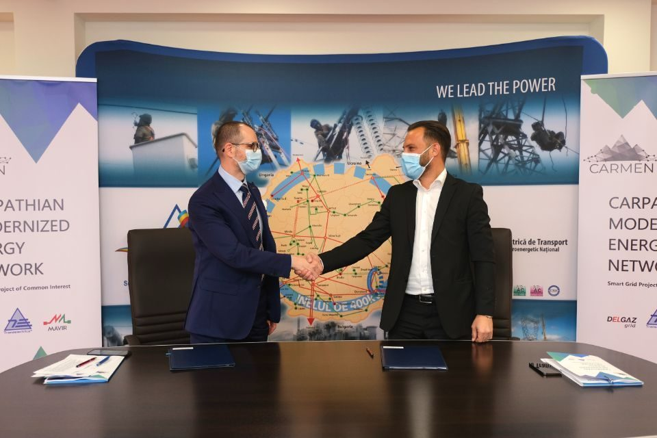 Transelectrica and Delgaz Grid sign agreement for the implementation of the CARMEN project